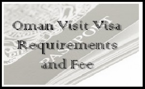 what are oman visa requirements