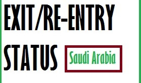 Exit re entry visa status check saudi arabia