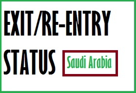 CHECK OFFICIAL EXIT RE ENTRY VISA STATUS