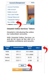 omantel bills check