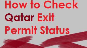 qatar exit permit inquiry online