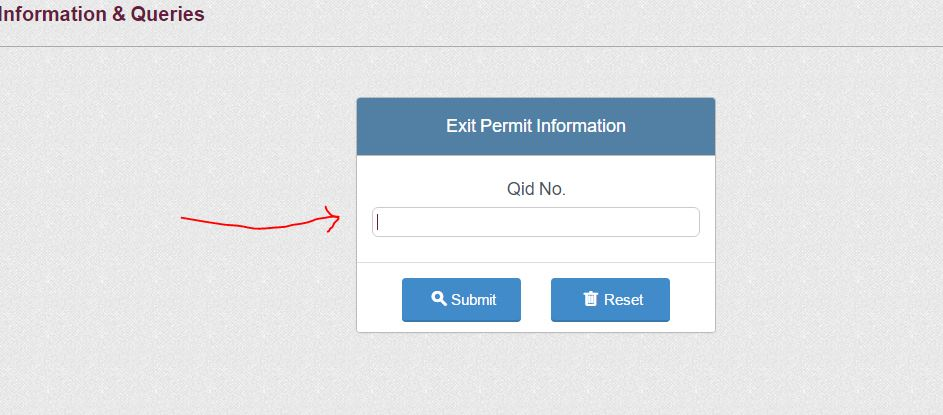 qatar exit permit validity check