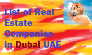 List of Real Estate companies in Dubai