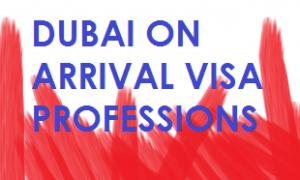 dubai visa on arrival professions