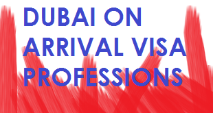 dubai visa on arrival professions