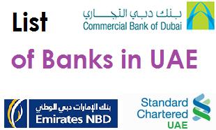 List of Banks in Abu Dhabi and Dubai, UAE