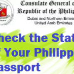 Check Status of Philippine Passport PCG Dubai, UAE