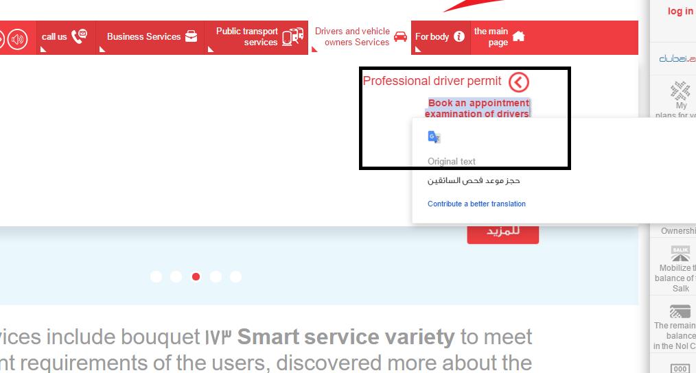 uae professional driving permit online