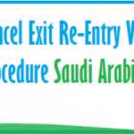 CANCEL SAUDI EXIT RE-ENTRY VISA ONLINE