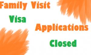 family visit visa applications closed till hajj