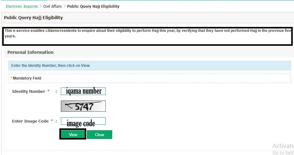 moi hajj permit eligibility check