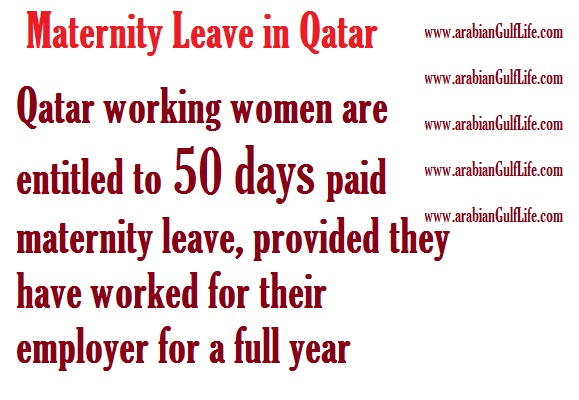 maternity leave in Qatar labor law