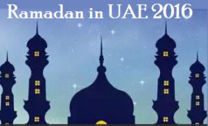 Ramadan Date UAE 2016