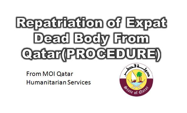 Repatriation of Dead Body From Qatar