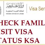 CHECK SAUDI FAMILY VISIT VISA STATUS ONLINE