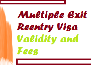 multiple exit reentry visa validity