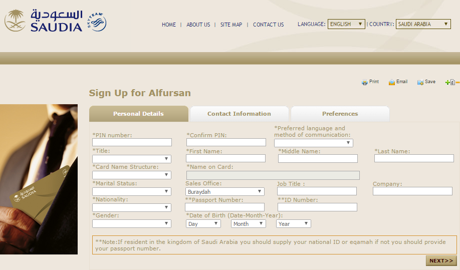 alfursan frequent flyer program