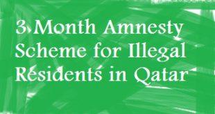 3 Month Amnesty Scheme for Illegal Residents in Qatar