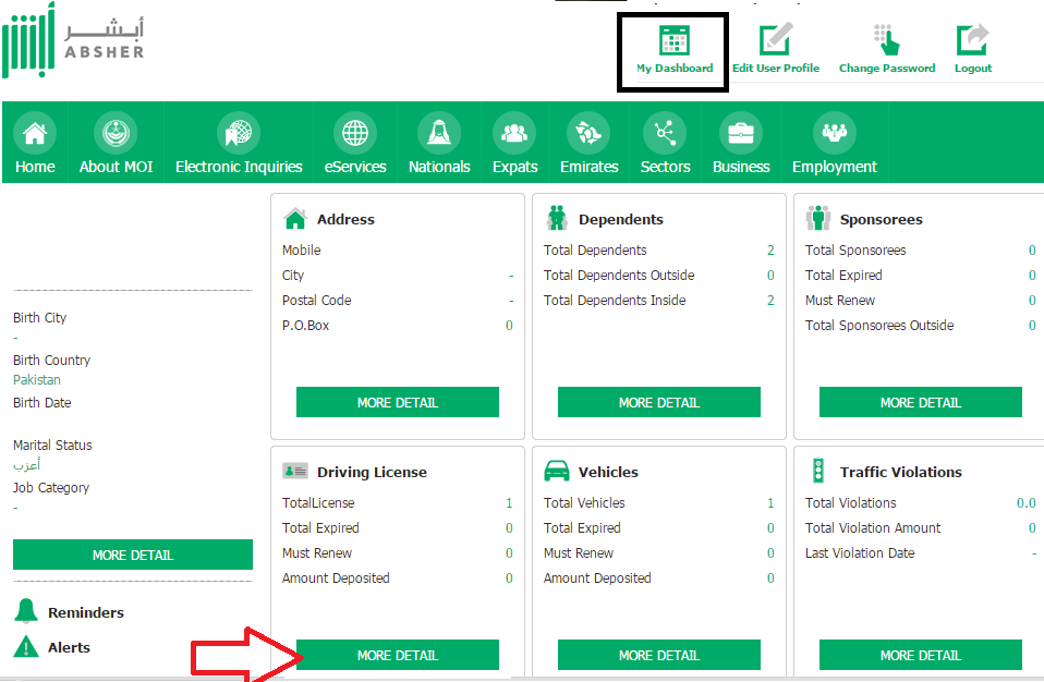 Check Saudi Driving License Expiry Date Online