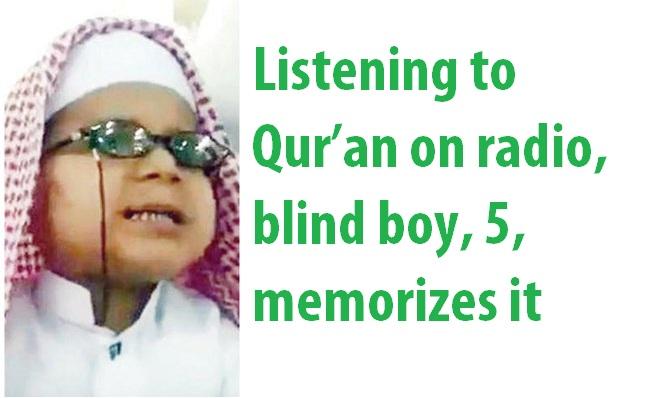 blind kid memorize Quran