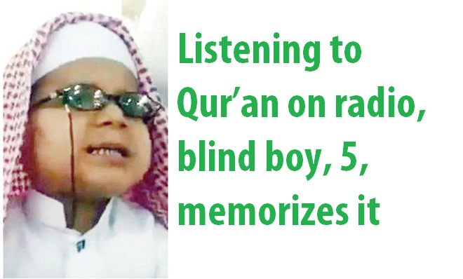 5 Year OLD Saudi Boy Memorizes Quran From Radio