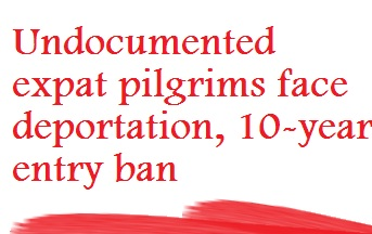 10 Year Ban for Expats Performing Hajj Without Permit