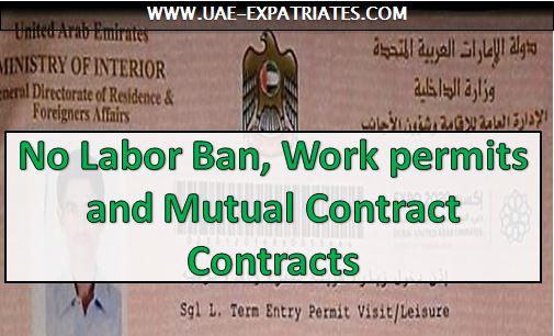 UAE Labour Laws: No Labor Ban, Work permits, Contracts