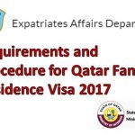 Requirements and Procedure for Qatar Family Residence Visa