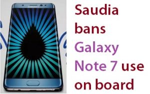 Saudi Arabian Airline Ban on Samsung Note 7