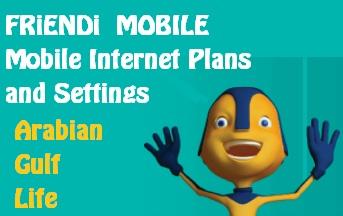 FRIENDI KSA Internet Plans and Settings