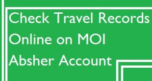 Moi Absher Account Travel Record Information