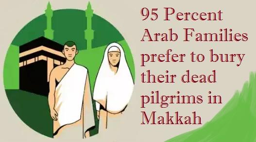 95 Percent Arab Families prefer to bury their dead pilgrims in Makkah