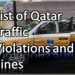 List of 113 Qatar Traffic Violations and Fines in Qatari Riyal