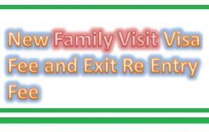 New Family Visit Visa Fee