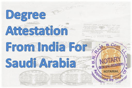 degree-attestation-from-india-for-saudi-arabia
