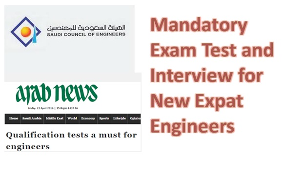 Mandatory Exam Test and Interview for New Expat Engineers