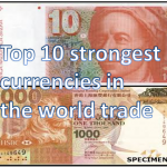 Top 10 strongest currencies in the world trade