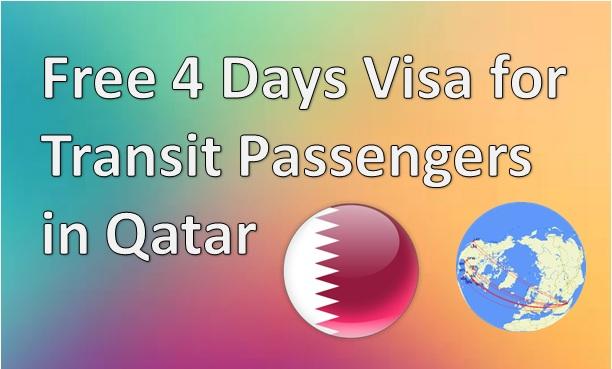 Free 4 Days Visa for Transit Passengers in Qatar