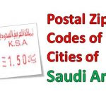 Postal Zip Codes of 13 Cities of Saudi Arabia