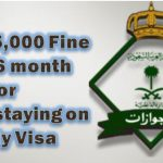 SR 15,000 Fine and 6 month Jail For Overstaying on Visa