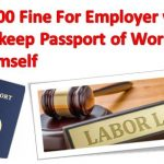 Fine for Employers Confiscated workers Passports