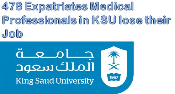 478 Expatriates Medical Professionals in KSU lose their Job