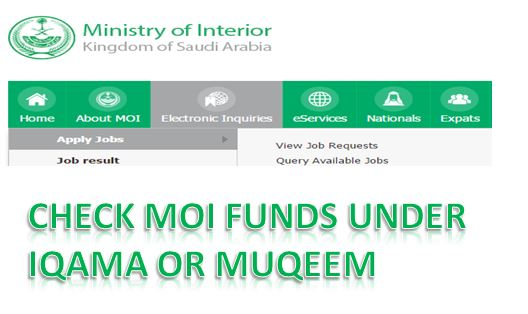 HOW MUCH FUNDS AVAILABLE UNDER IQAMA