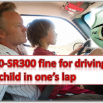 Driving Vehicle While Child in Lap Fine in Saudi Arabia