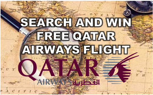 SEARCH AND WIN FREE QATAR AIRWAYS FLIGHT