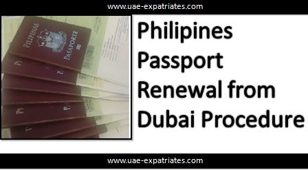Passport Renewal Philippines Dubai Procedure
