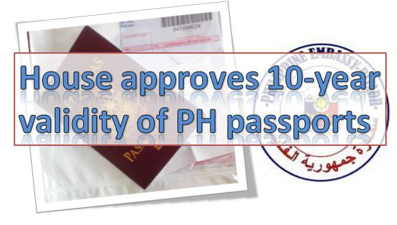 10-year validity of Philipine Passports Approved