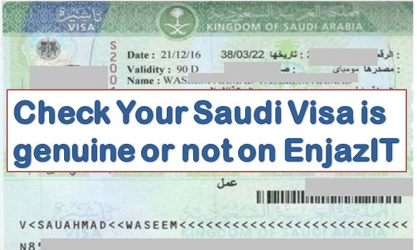 Check Saudi Visa Status On EnjazIT