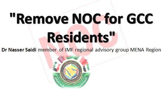 """Remove NOC for GCC Residents"" MENA Economist"