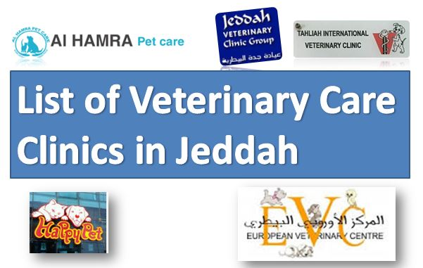 List of Veterinary Care Clinics in Jeddah